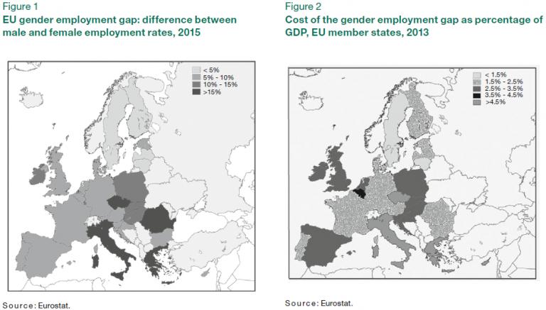 disparitá occupazionale di genere in UE