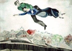 """Au-dessus de la ville"", Marc Chagall, Tretyakov Gallery, Moscow"