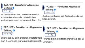 Media e informazione - Frankfurt Zeitung